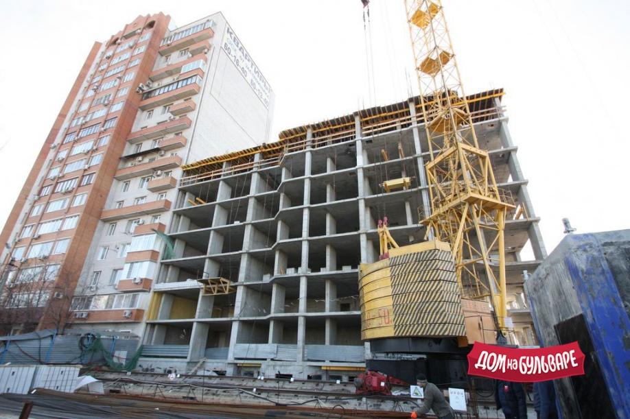Новости строительства: переходим на 8 этаж! - ЖК Дом на Бульваре
